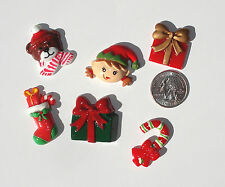 Christmas Elf Bear Mix Resin Flatbacks hair bows embellishment scrapbooking glue