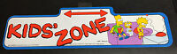 """Ultra Rare 1990 Official VINTAGE Original The Simpsons Street Sign """"Kids' Zone"""""""