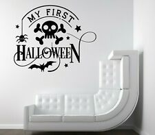 First Halloween Spooky Vinyl Decal Stickers Shop Window Wall Decor Baby Home