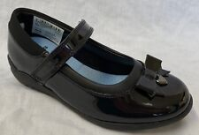 Girls Clarks Smart School Shoes Ting Fever INF UK 12.5 Kids Black Patent H