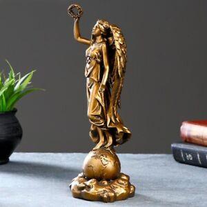 Nike Statue Greek Goddess Statue Bronze Art Collectible Figure 11''