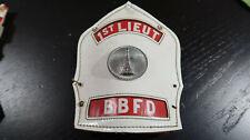 OBSOLETE Cairns Fireman Helmet Front Plate Shield 1st Lieut BBFD