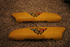 1997-2004 C5 Corvette Genuine Leather Door Arm Rest Pads Yellow