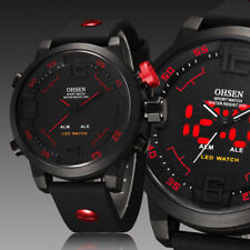 OHSEN Light Military Army Alarm Mens Calendar Sport Watch Quartz Accessories