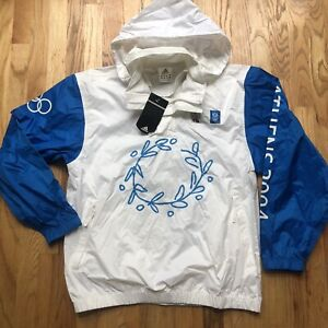 NWT Mens Vintage Adidas Athens 2004 Olympics Torch Relay Windbreaker Jacket Sz M