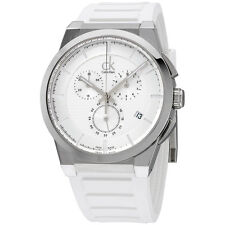 Calvin Klein Dart Quartz Stainless Steel Case Silcone Strap Men's Watch K2S371L6
