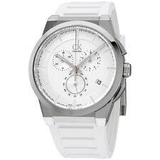 Calvin Klein Dart Silver Dial Silicone Strap Men's Watch K2S371L6