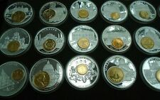 More details for history of europe currency proof medalions & coins gold and silver plated