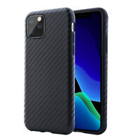 Handy Hülle iPhone 11 / Pro / Max Case Carbon Silikon Schutzhülle Cover +Glas