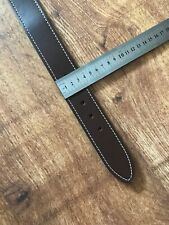 "1.5"" WIDE MID BROWN TEXTURED REAL LEATHER LARGE BREED DOG COLLAR FIT 22"" -27"""