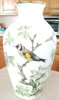 Vase Woodland Birds Franklin Porcelain Limited Number Vintage 1981 Basil Ede