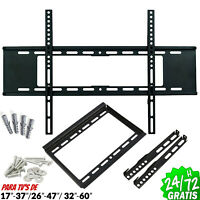 "SOPORTE TV PARED Q LED LCD PLASMA 17"" a 60"" 40kg ROBUSTO AJUSTABLE FLAT BRACKET"