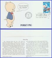 US #3534a U/A MYSTIC FDC   Porky Pig