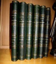 6 ANNEES DE LA REVUE Journal de menuiserie  1863-1868 RELIURE PAR ANNEE