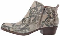 Lucky Brand Womens Basel Leather Almond Toe Ankle Fashion, Open Grey, Size 10.0