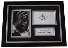 Steve McQueen SIGNED A4 FRAMED Autograph Photo Display Film Director COA