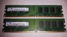2x2GB (4GB) Samsung 2GB 2Rx8 PC2-6400U-666-12-E3 DDR2 Arbeitsspeicher
