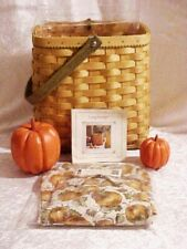 Longaberger 2003 Autumn Tote Basket Combo w/Liner Protector & Product Cards New!