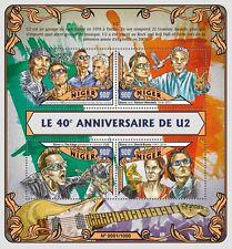 Niger 2016 MNH U2 40th Anniv 4v M/S Bono Nelson Mandela David Bowie Stamps