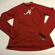 Nike Pro Combat Hyperwarm Fitted LS Shirt Red Mens Alabama Crimson Tide Sz Small