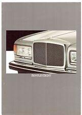 Bentley eight 1984-85 marché du royaume-uni rabattable sales brochure