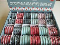 1 reel Dovecraft Modern Christmas Ribbon 2016 - choice of design - 2m grosgrain