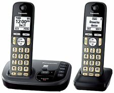 Panasonic KX-TGD222M Cordless Phone with Answering Machine- 2 Handsets Certifie