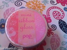 pop lipgloss gloss tin triple colour mini ribbon poppy red sealed new, 3.5g NICE