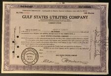 US GULF STATES UTILITIES COMPANY COMMON STOCK CERTIFICATE 1947 B9/3 With Reven*
