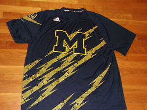 ADIDAS MICHIGAN WOLVERINES FOOTBALL JERSEY MENS 2XL EXCELLENT CONDITION
