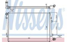 NISSENS Radiador, refrigeración del motor VOLKSWAGEN GOLF SEAT AUDI A3 65291A