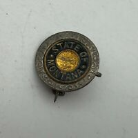 Antique State Of Montana Great Seal Lapel Pin Vintage Older Scarce   K3