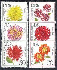 Germany DDR**DAHLIAS-FLOWERS-DAHLIEN-6vals-1979-Bloemen-MNH-FLEURS-Flores
