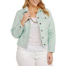 Faded Glory Women's Plus Classic Denim Jacket,  Icy Morn, 2X