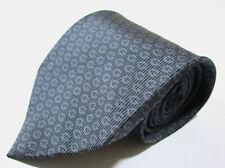 Gucci Striped GG Logo Pattern Gray Color Silk Necktie Tie Made In Italy
