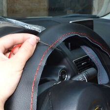 """15"""" 38cm Black Synthetic Leather Steering Wheel Cover w/Needles for Civic 06-15"""
