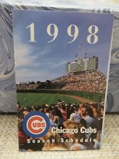 PAIR of CHICAGO CUBS 1998 POCKET SCHEDULES