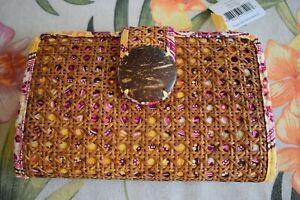 Vera Bradley Tiki Clutch Bali Bold Purse / Wallet, Tiki, Tiki Style Clutch Purse
