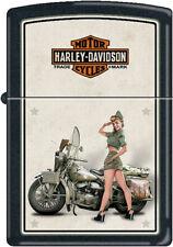 Zippo Harley-Davidson Motorcycles US Army Pinup Girl Lighter 9939