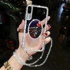 Luxury 3D Bling Mirror Rhinestone Clear Phone Cases Cover For iPhone Samsung