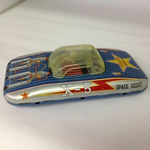 Vintage Friction Space Scout X-5 toy. 772-F