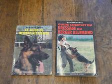 Lot de 2 livres sur le chien de berger allemand - dressage du berger allemand