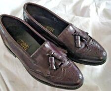 Dexter Men's Black Leather Tassel Loafers  Wingtip Shoes USA Sz10.5 M 564945