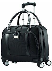 """Samsonite Travel Luggage Women's Spinner Mobile Office Black Bag Laptop Case 15"""""""