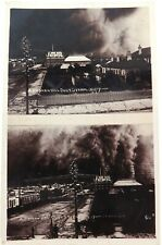 .SUPER RARE 1907 SPLIT VIEW REAL PHOTO POSTCARD BROKEN HILL DUST STORM 15/12/07