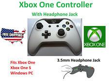 New White Microsoft Wireless Game Controller Xbox One / One S Headphone Jack