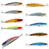10pcs 11.5CM Kinds of Fishing Lures Crankbaits Hooks Minnow Baits Tackle Crank