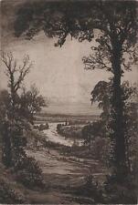 HENRY MACBETH-RAEBURN Signed Etching RIVER IN LANDSCAPE c1910