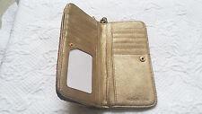 MICHAEL KORS Gold Sequin MILTIFUNCTION Wallet Handbag Msrp $348 Gold, Silver
