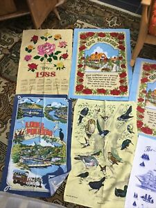 Vintage Tea Towels Job Lot